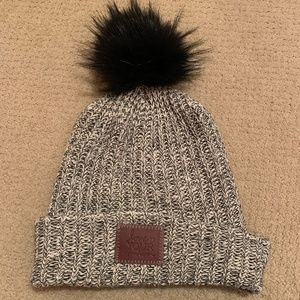 68d3f6535591b Black   White Speckled Love Your Melon Hat w Puff